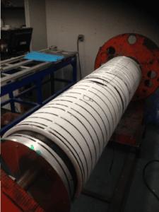 Fabrication du tube du rotor (sandwich fibre de carbone et mousse)