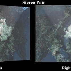 formes 3D sous-marines-Example of a rectified stereo image pair